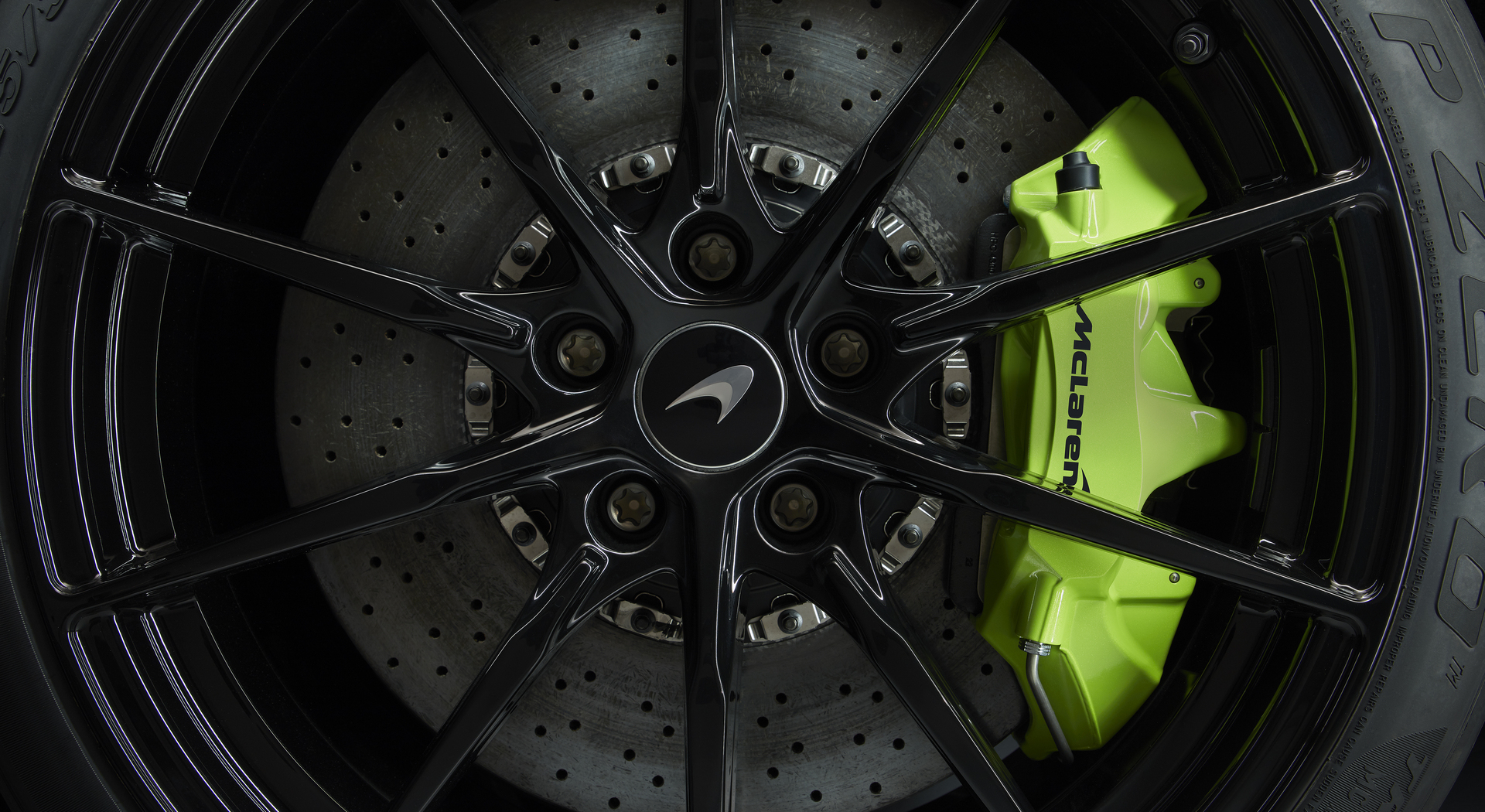 600LT Spider Green Brake Caliper