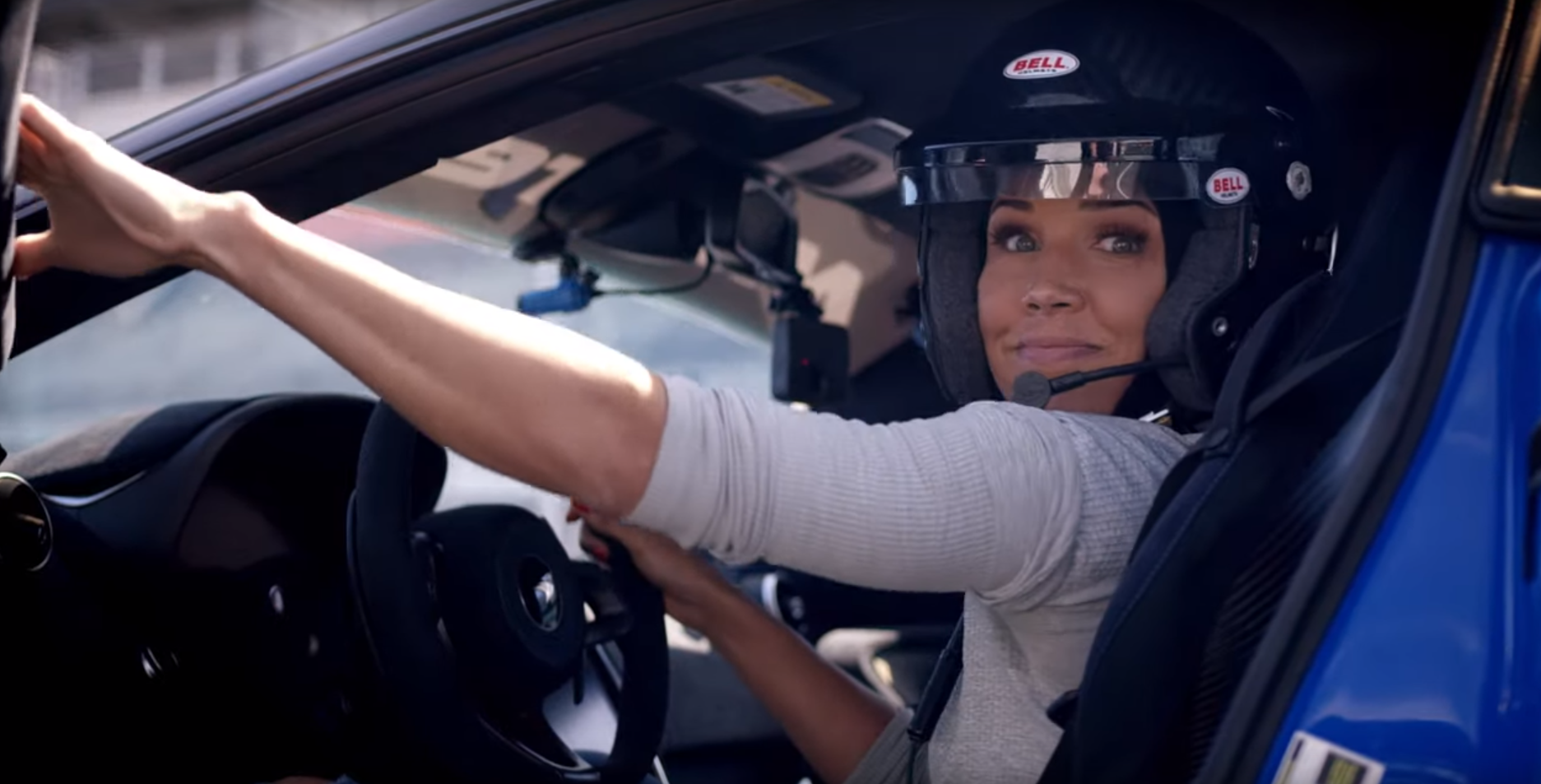 Olympian Lolo Jones drives the awesome McLaren 600LT in Indianapolis